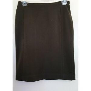 H&M Olive Knee Length Skirt